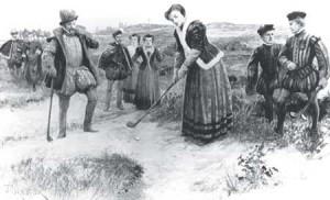Ook vroeger waren er vrouwen te vinden op de golfbaan.