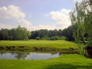 De derde hole van de Kempense golfbaan