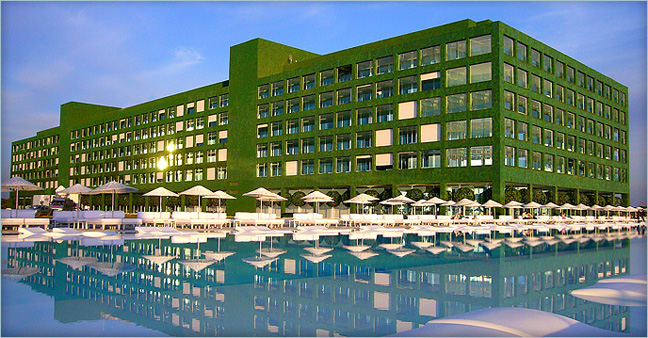 Een groen hotel........