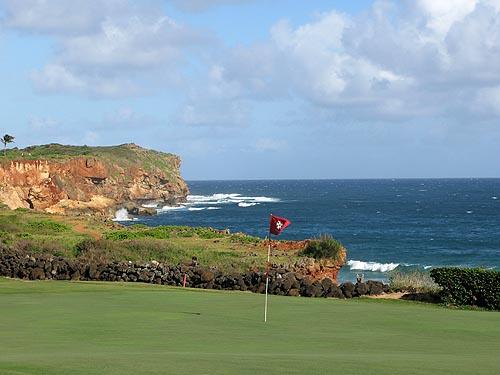 Hole 16, een uitdaging voor iedere golfer.