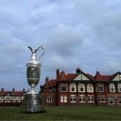 Joost Luiten in actie tijdens Brits Open