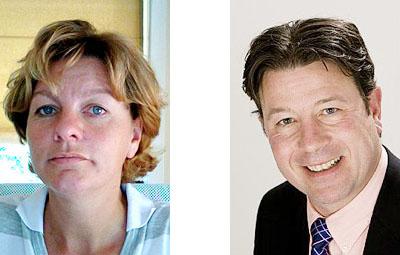 Kristine ten Doesschaten en Frank Duivenvoorden
