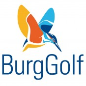 Logo burggolf met onderschrift
