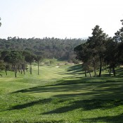 PGA Catalunya Stadium Course, de afslag van hole 3