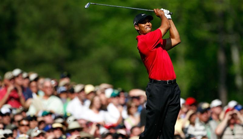 Tiger Woods tijdens Augusta Masters