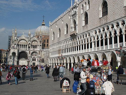 Het beroemde San Marcoplein in Venetië.