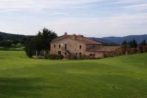 Het prachtige clubhuis van Golf D'Aro gebouwd in de stijl van een oude Catalaanse Masia